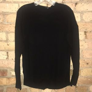 Theory black cashmere sweater.